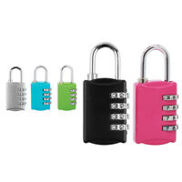 4 Digit Combination Padlock Black Number Luggage Suitcase Travel Code Lock Sight