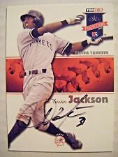AUSTIN JACKSON signed YANKEES 2008 Tristar Projections baseball card AUTO CUBS