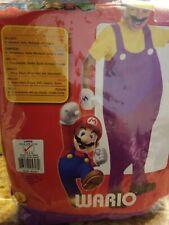 Rubie'S Super Mario Deluxe Wario Child Costume Boys Large New! Nintendo #135