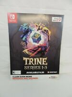 "Trine Series 1 - 3 Promo Poster 28"" X 22""  Nintendo Switch Display Gamestop"