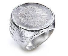 Tribal Spirit Ring Münze Silber 925 Vintage Einzelstück schmuckrausch