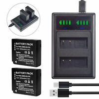 2X DMW-BLG10 Battery+charger for Panasonic Lumix DMC-LX100 DC-LX100 II DMC-GX85