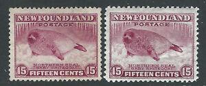 Bigjake: Newfoundland #s195 & 262,  15 ct. Harp Seal