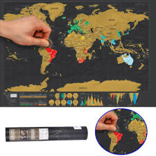 Cool Travel Edition Scratch Off World Map Poster Personalized Journal Log Gift