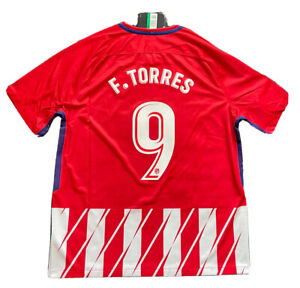 2017/18 Atletico Madrid Home Jersey #9 Fernando Torres XL Soccer Nike NEW