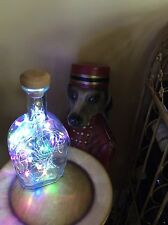 ~NEW~ Bling Lights BOWMAN BROTHERS Bourbon Whisky Empty LIQUOR BOTTLE Lamp LEDs