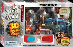 NEW BOX of SPOT WHAT MACHINE  3D JIGSAW PUZZLE with STICKER book and  glasses
