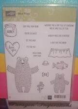 NEW Stampin Up BEAR HUGS Clear Mount Stamps Love You Honey Love Sentiments