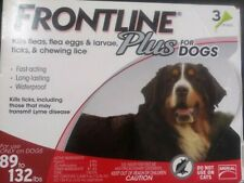 New Genuine Merial Frontline Plus For XL Dogs 89 To 132 lbs 3 Vials 3 Months