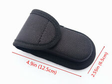 HQ Black Nylon Sheath For Folding Pocket Knife Outdoor Practical Pouch Case New