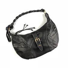 Avorio Vera Pelle Italy Black Leather Large Hobo Bag Shoulder Handbag Tote