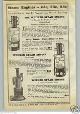 1940 PAPER AD The Whizzer Toy Play Steam Engine Alcohol & Electric