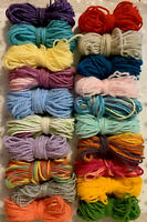 DK Yarn Wool Job Lot Knitting Crochet Granny Squares Crafts Toys Bundle Pompoms