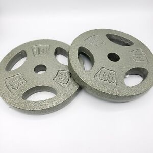 Set of 2 CAP 10 Lb Pound 1 Inch Standard Barbell Dumbbell Weight Plates 20lb