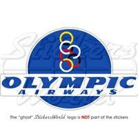 "OLYMPIC AIRWAYS Greek Airlines, Aviation 6"" (150mm) Vinyl Bumper Sticker, Decal"