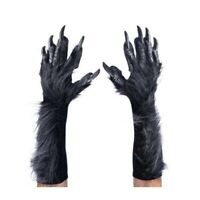 Deluxe Gray WereWolf Gloves Hands Claws Adult Halloween Costume Paws