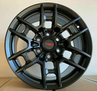 "17"" Matte Black Wheels - fits Toyota Tacoma, 4Runner, FJ Cruiser, TR4 - w209"