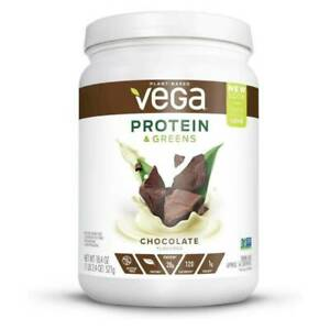 Vega Protein & Greens CHOCOLATE Plant Based Protein Powder Plus Veggies  07/21