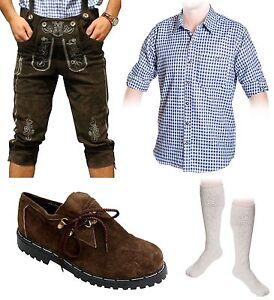 5-teiliges Trachtenset A Trachtenlederhose 46-60 Träger,Schuhe,Hemd,lange Socken