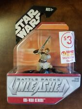 Star Wars Battle Packs Unleashed OBI-WAN-KENOBI Action Figures Hasbro 2007 NIP