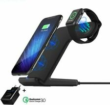 Qi Wireless Charger For Apple iPhone Samsung USB Fast wireless Charging Holder