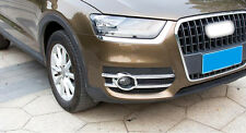 Accessories ABS Chrome Exterior FrontFog Light Lamp Cover For Audi Q3 2012- 2015