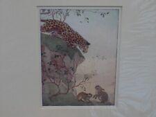 Original Vintage Margaret Tarrant Print Zoo Days Harry Golding The Leopard