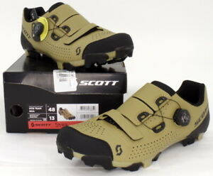 Scott MTB Team Boa Mountain Bike Shoes Beige/Black Men's Size 13 US / 48 EU