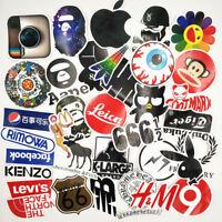 32 Stickers Vinyl Skateboard Guitar Travel Case Pack Tide Brand Logo Decals