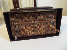 Authentic Mulberry Brown Mabel Wallet Rare Snakesking, Receipt