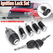 IGNITION SWITCH LOCK BARREL KEY 4 DOOR FOR VW TRANSPORTER T4 CARAVELLE 1990-2003
