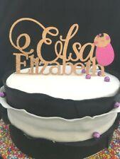 Baby Shower Christening Customised Personalised Cake Topper Glitter Cardstock