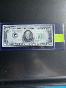 FR. 2201 1934 $500 FEDERAL RESERVE NOTE CIRCULATED (10/8)