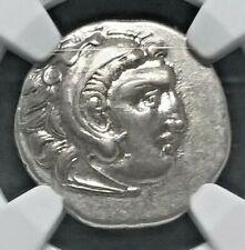 323 - 317 BC Kingdom of Macedon  AR Drachm Phillip III   NGC AU  Heracles  Zeus