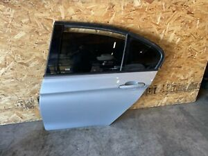 BMW F30 F31 REAR LEFT DRIVER SIDE DOOR SHELL GLACIER SILVER METALLIC OEM 45MK