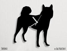 Shikoku Dog Silhouette - Wall Clock