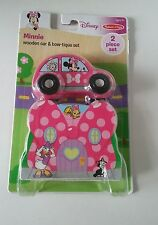Minnie  Wooden car & bow - tique set