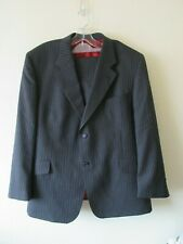 ALFRED BROWN FABRIZIO SUIT GREY PINSTRIPE TAILORED EMPIRE MILLS SZ 46 40 R