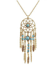 HORSE & WESTERN JEWELLERY JEWELRY LADIES LONG DREAM CATCHER NECKLACE GOLD