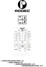 Table de mixage RODEC MIXBOX MKII : manuel utilisateur