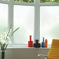 200 X 60CM White Privacy Frosted Film Frost Glass Sticky Back Plastic Vinyl