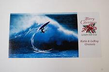 Legendary Surf Photographer Leroy Grannis Signed Personal Christmas Card