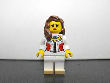 Lego Girl Minifigure With Corset Maiden Top & Light Brown Hair