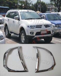 Front Head Light Lamp Cover Trim for 2008-2014 Mitsubishi Pajero Montero Sport