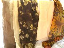 Trabajo Lote De 4-algunos bufandas de seda Real Vintage con bordes enrollados & cosida a mano