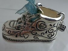 Chelsea Baby By Ganz Silver Plated Engravable Baby Shoe - BOY