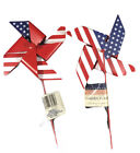 """(lot Of 2) Patriotic Star 30"""" USA Flag Garden Stake 4th of July Independence Day"""