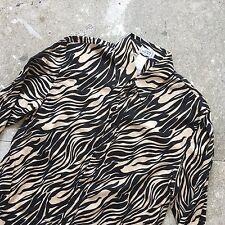 Splendido Vintage Gianni Versace Zebra Print camicia-SZ 46 S Small