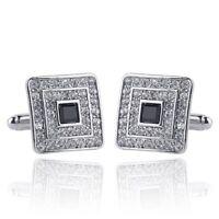 Fashion Shirt Cufflinks Diamonds Inlaid Cufflinks Delicate Men's Jewelry Fo J6B5