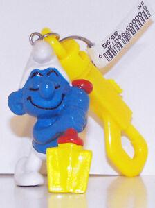 Digger Smurf Vintage Figurine Key Chain 20043kc Smurf Digging Keychain Shovel
